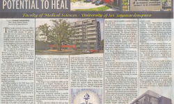 Faculty of Medical Sciences on News Discovering the Potential to Heal